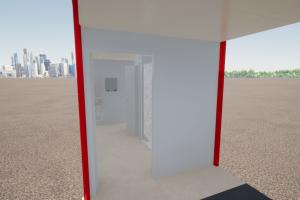 Staff Lavatory-Lockers_Hallway Interior 2